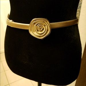 Soft gold leather belt by Talbots
